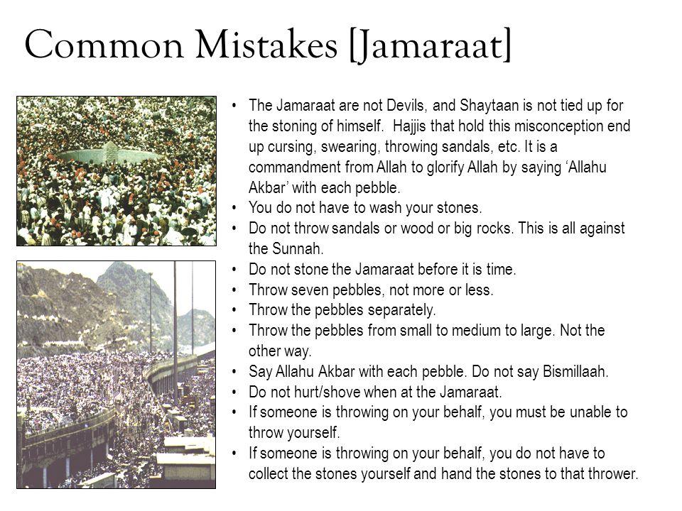 Common Mistakes [Jamaraat]